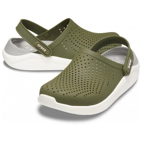 Фото - Сабо Crocs LiteRide Clog, размер 36-37(M4/W6), Army Green/White army green sexy deep v neck backless crochet lace swimwear