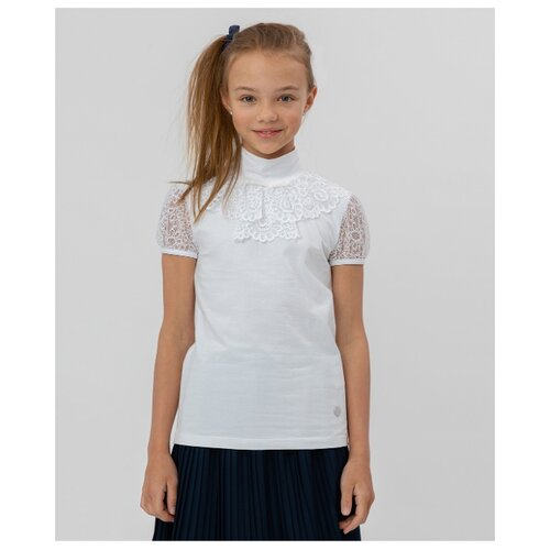 Купить Блузка Button Blue размер 164, белый, Рубашки и блузы