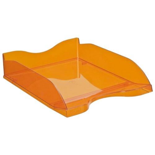 Лоток горизонтальный для бумаги СТАММ Люкс тонированный оранжевый манго, Лотки для бумаги  - купить со скидкой