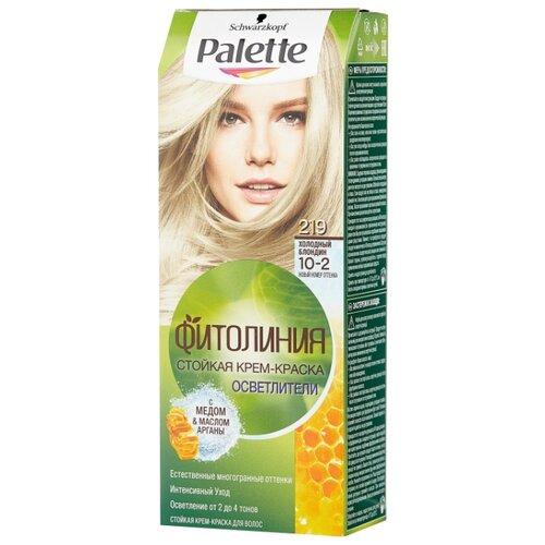Palette Фитолиния Осветлители Стойкая крем-краска для волос, 219 10-2 Холодный блондин холодный светлый блондин