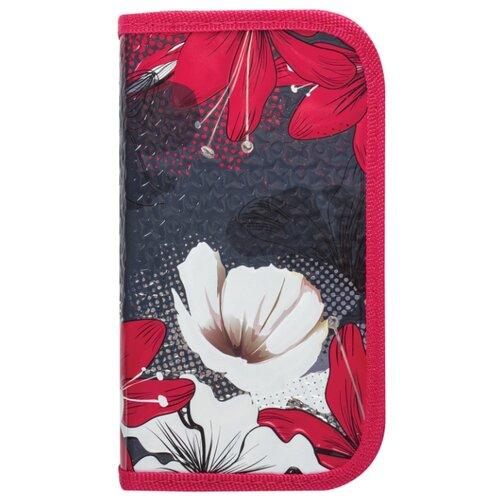 Купить BRAUBERG Пенал Цветы (228098) красный, Пеналы