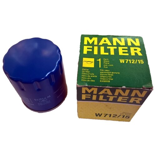 Масляный фильтр MANNFILTER W 712/15 масляный фильтр mannfilter w 712 4