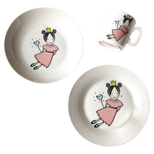 Фото - Набор для завтрака Сотвори Чудо Маленькая королева белый тарелка сотвори чудо линия 20 см белый