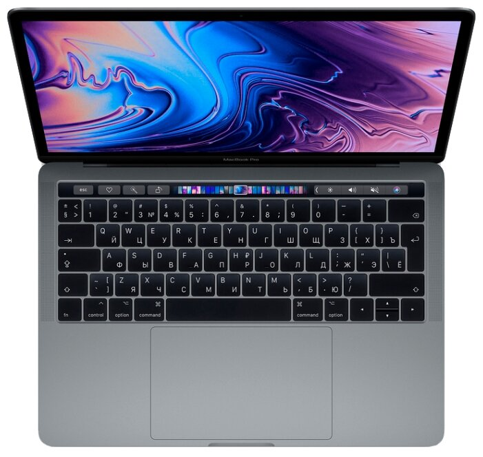 "Ноутбук Apple MacBook Pro 13 with Retina display and Touch Bar Mid 2018 (Intel Core i5 2300 MHz/13.3""/2560x1600/8GB/256GB SSD/DVD нет/Intel Iris Plus Graphics 655/Wi-Fi/Bluetooth/macOS)"