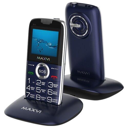 Телефон MAXVI Maxvi B10 синий телефон maxvi b5