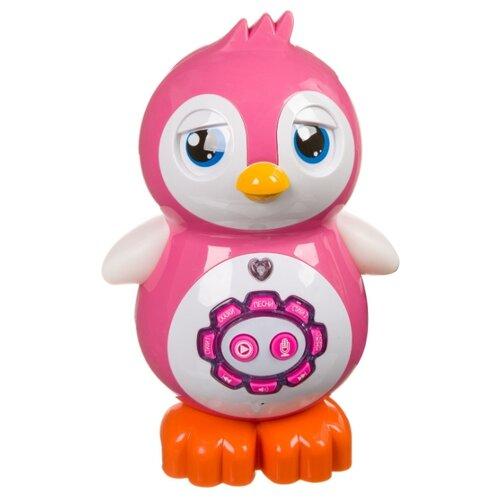 развивающая игрушка bondibon автомобиль корабль разноцветный Развивающая игрушка BONDIBON Умный пингвинчик розовый/белый