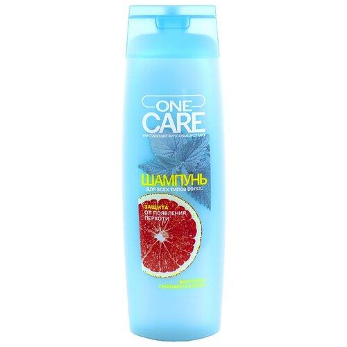 One Care шампунь Защита от появления перхоти экстракт грейпфрута и мяты 400 мл