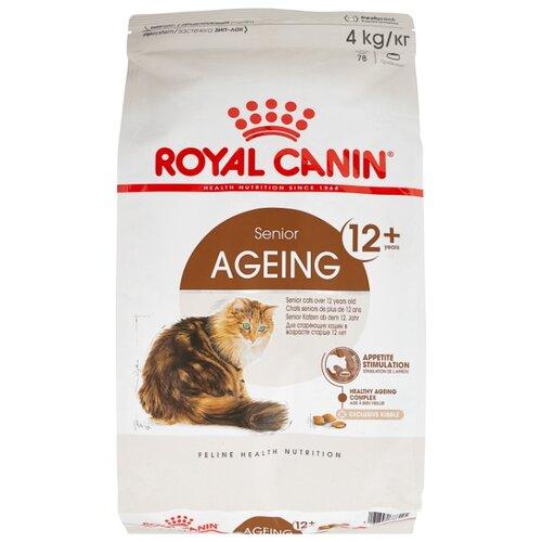 Сухой корм для пожилых кошек Royal Canin Ageing 12+, профилактика МКБ 4 кг