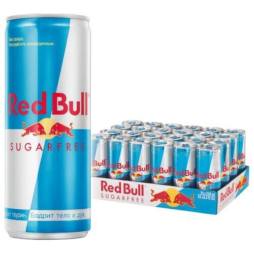 Энергетический напиток Red Bull sugar free, 0.25 л, 24 шт.