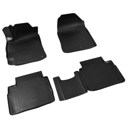 Комплект ковриков NorPlast NPA11-C31-063 4 шт. черный