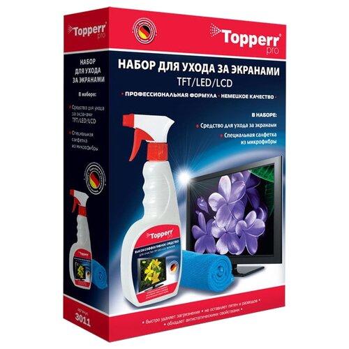 Купить Набор Topperr 3011 чистящий спрей+многоразовая салфетка для экрана