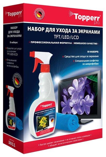 Набор Topperr 3011 чистящий спрей+многоразовая салфетка для экрана