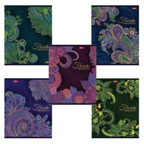 Купить Hatber Тетрадь Floristic Ornament 047159, клетка, 48 л., Тетради