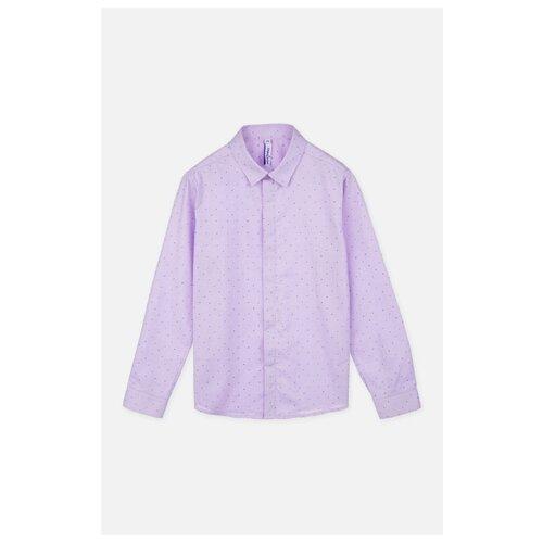 Рубашка playToday размер 140, сиреневый жилет playtoday размер 92 сиреневый