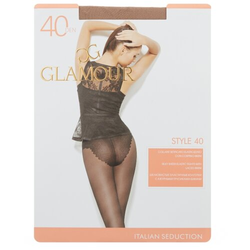 Колготки Glamour Style 40 den, размер 2-S, miele (бежевый) колготки glamour thin body 40 den размер 2 s daino бежевый
