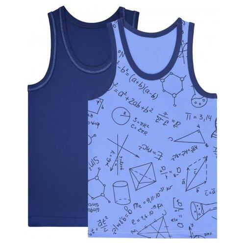 Майка UNIK 2 шт., размер 110, темно-синий/голубой футболка для мальчика batik цвет темно синий голубой ds0173 10 11 размер 110