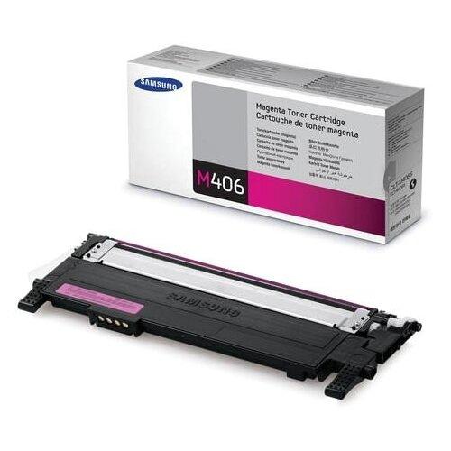 Фото - Картридж лазерный SAMSUNG (CLT-M406S) CLP-365/365W, CLX-3300/3305W и другие, оригинальный, пурпурный картридж лазерный samsung clt m508l пурпурный 400