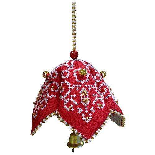 ZENGANA Набор для вышивания бисером и нитками Русский колокольчик 7 × 7 см (М-078), Наборы для вышивания  - купить со скидкой