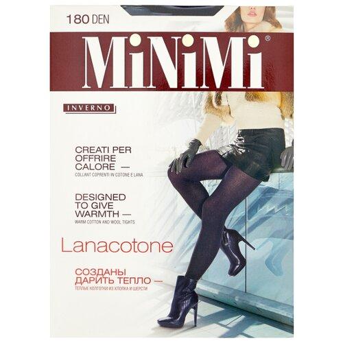Колготки MiNiMi Lanacotone 180 den, размер 5-XL, nero (черный) колготки minimi lanacotone 180 den размер 4 l nero черный