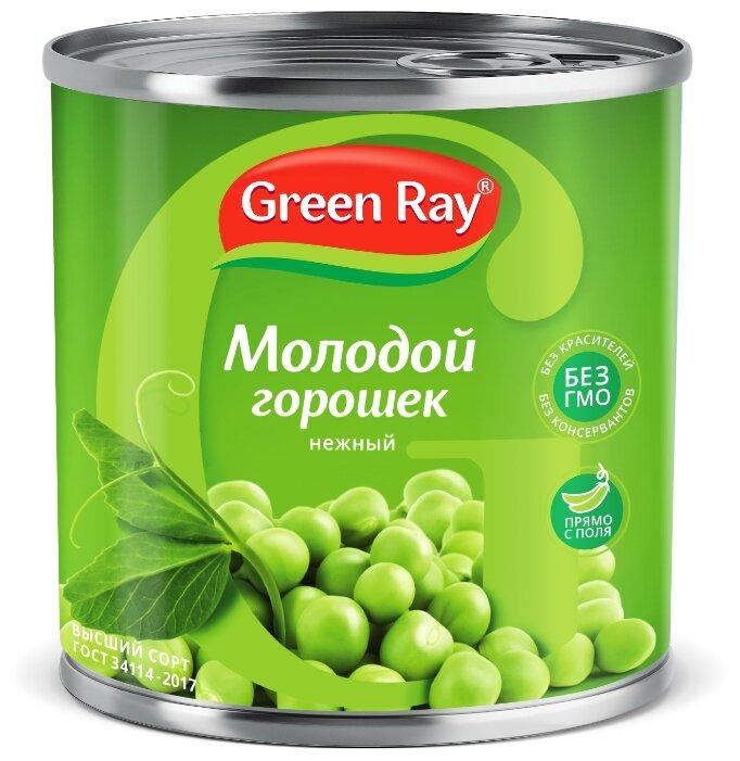 Горошек зелёный Green Ray деликатесный, жестяная банка 420 г