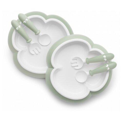 Купить Комплект посуды BabyBjorn 0740 нежно-зеленый, Посуда