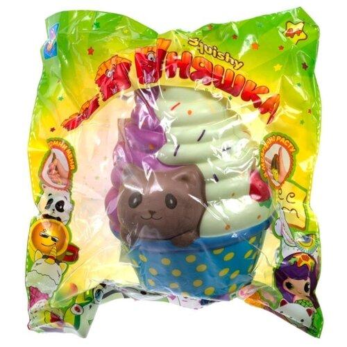 Игрушка-мялка 1 TOY Мороженое с котенком Т15872 разноцветный