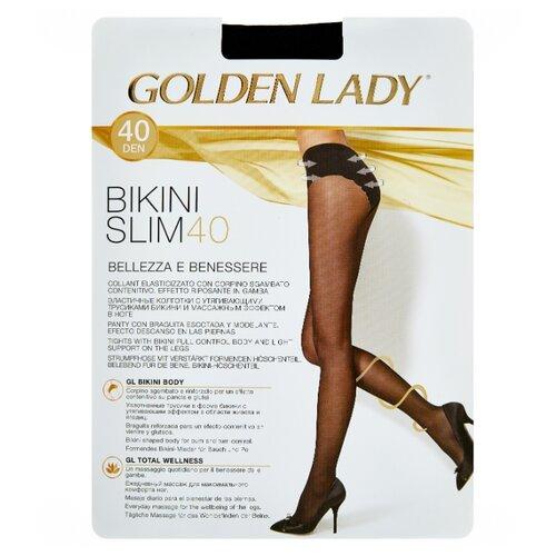 Колготки Golden Lady Bikini Slim 40 den, размер 4-L, nero (черный) колготки golden lady dynamic 40 den размер 4 l nero черный