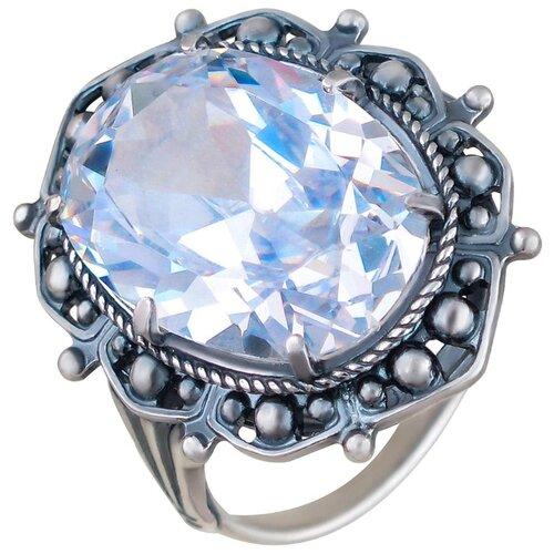 Эстет Кольцо из чернёного серебра Л9К151180Ч, размер 18