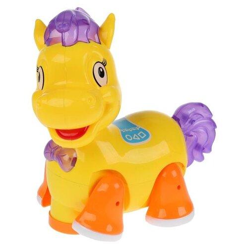 Купить Развивающая игрушка Zhorya Лошадка (ZY840177) желтый/оранжевый/фиолетовый, Развивающие игрушки