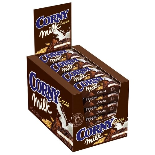 Фото - Злаковый батончик Corny Milk Cocoa с молоком и какао, 24 шт злаковый батончик corny big cranberry с клюквой 24 шт