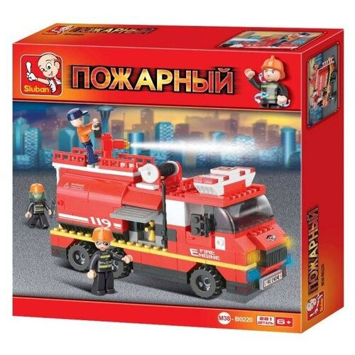 Купить Конструктор SLUBAN Пожарные спасатели M38-B0220, Конструкторы