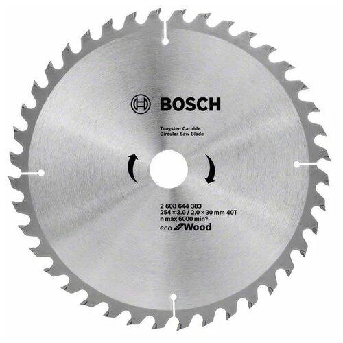 Пильный диск BOSCH ECO for Wood 2608644383 254х30 мм диск пильный bosch eco wood 230 ммx30 мм 48зуб 2608644382