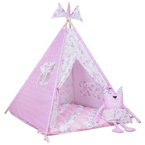 Палатка ВИГВАМиЯ базовый с бомбоном домик принцессы