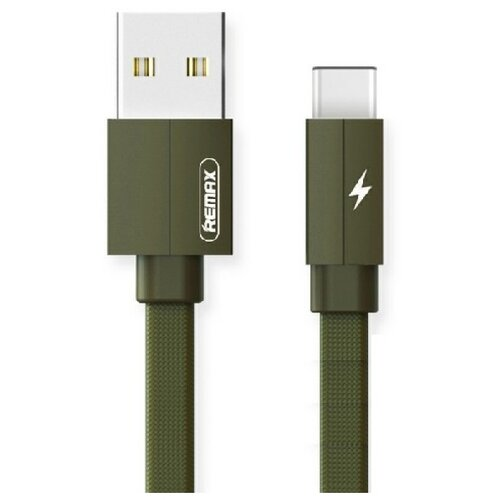 Кабель Remax Kerolla USB - USB Type-C (RC-094a) 1 м зеленый кабель usb type c microusb a data acm32in1 100cmk cbk 1 м