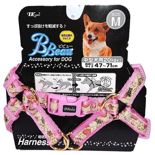 Шлейка Japan Premium Pet Буржуа M розовый