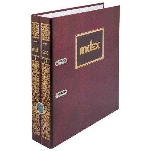 Купить Index Папка-регистратор 80 мм, ламинированная Фолиант двухтомник, Файлы и папки