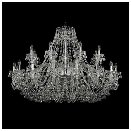 Люстра Bohemia Ivele Crystal 1410/16+8/460/Ni/V0300, E14, 960 Вт bohemia ivele crystal 1410 6 160 ni v0300 sh2