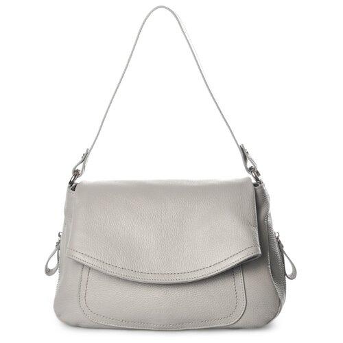 Сумка хобо Afina 447, натуральная кожа, светло-серый сумка afina afina af004bwepfz7