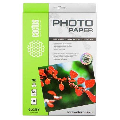 Фото - Бумага cactus A4 CS-GA4200100 200 г/м² 100 лист., белый бумага cactus 914 мм cs lfptr 91445 90 г м² 45 м белый