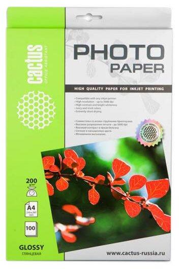 Бумага A4 100 шт. cactus CS-GA4200100