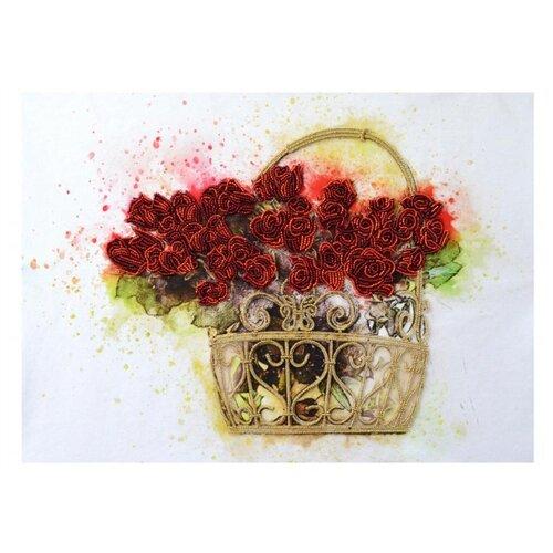 Купить NOVA SLOBODA Набор для вышивания бисером Цветы любви 48 х 35 см (НК3303), Наборы для вышивания