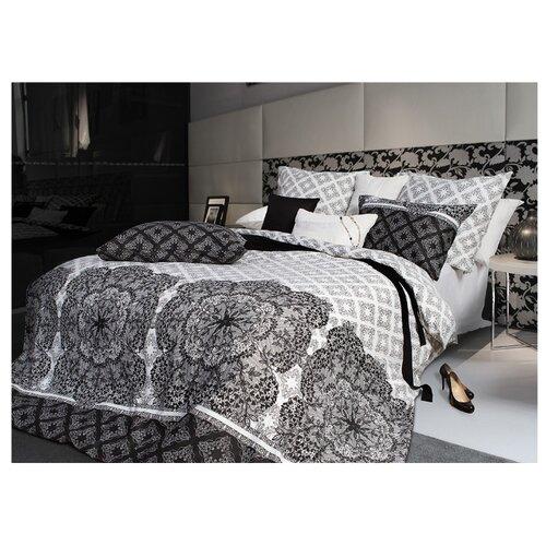 Постельное белье 1.5-спальное Sova & Javoronok Кружево сновидений с белой простыней 70х70 см, сатин черный/белый