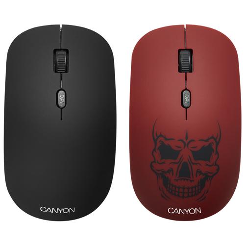 Мышь Canyon CND-CMSW401RS Череп Red USBМыши<br>