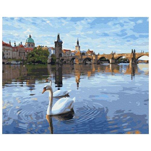 Купить Картина по номерам ВанГогВоМне ZX 23468 Лебеди в Праге 40х50 см, Картины по номерам и контурам