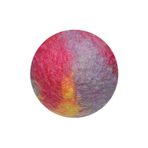 Мячик LIVEZOO Wool мультиколор 6 см малиновыйИгрушки для кошек и собак<br>