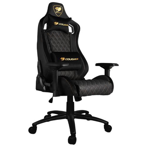 Компьютерное кресло COUGAR Armor S Royal игровое, обивка: искусственная кожа, цвет: черный кресло компьютерное игровое cougar armor s b черный