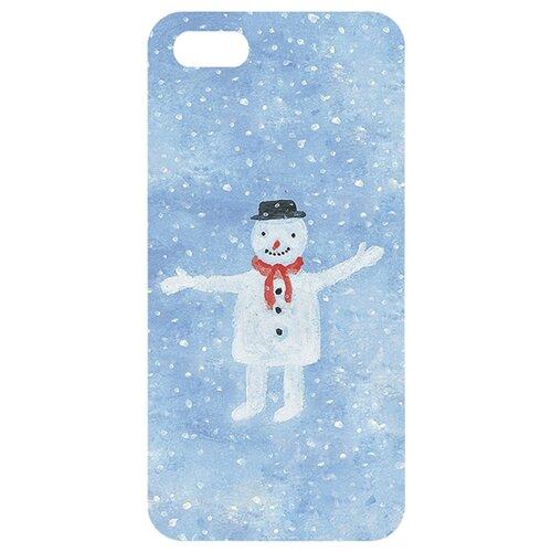 Чехол Mitya Veselkov IP5.МITYA-167 для Apple iPhone 5/iPhone 5S/iPhone SE Снеговик mitya veselkov ежик в молочном тумане чехол для apple iphone 5 5s