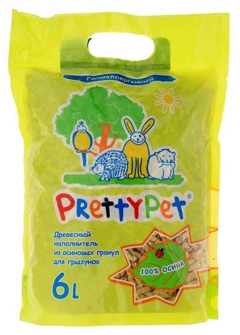 Наполнитель древесный PrettyCat PrettyPet Осиновый 2 кг/6 л