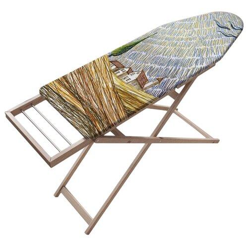 Чехол для гладильной доски JoyArty на синтепоновой подкладке 136х50 см. Волнистые солнечные лучиЧехлы для гладильных досок<br>