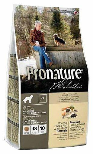 Корм для пожилых собак ProNature Holistic океаническая рыба с рисом 13.6 кг